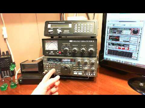 Comparing the Kenwood TS-430S Transceiver to Icom PCR1000 Computer Controlled Radio