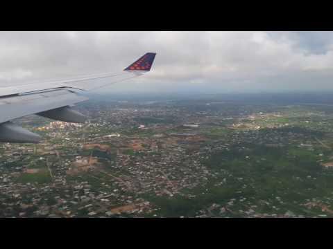 Atterrissage à  Douala  vol Bruxelles -Douala 25.09.2016