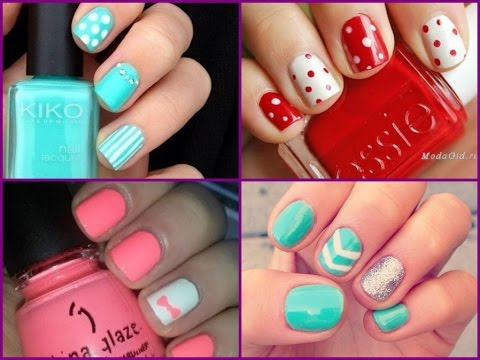 Nail Art Design For Short Nails Simple And Easy Ideas Youtube