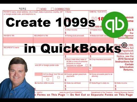 QuickBooks: Creating 1099s