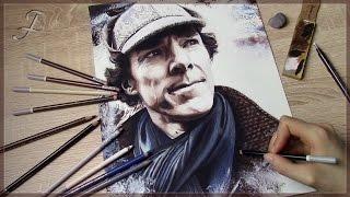 Sherlock Holmes - Sherlock (BBC) | Speed Art Pastel Painting