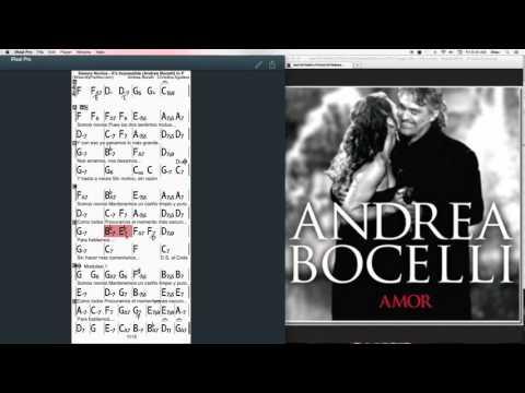 Somos Novios - It's Imposible Chords at MyPartitur - Andrea Bocelli & Christina Aguilera