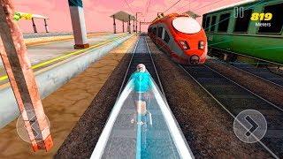 Subway Rider - Train Rush - Gameplay Android game - endless bike riding game