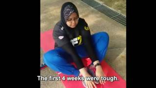 7 WEEKS FREELETICS TRANSFORMATION NADIAH