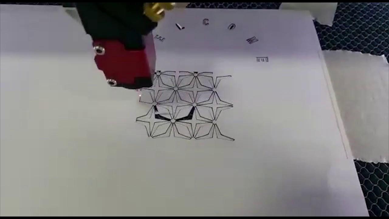 Tylko na zewnątrz Ploter laserowy VENUS 60W - cięcie papieru - YouTube PF45