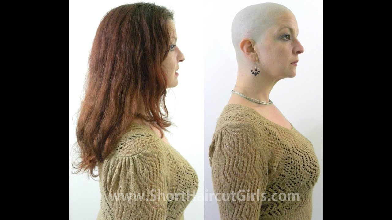 Long To Bald Makeover Httpshorthaircutgirls Bald Is