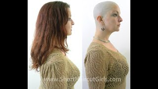 Long to Bald Makeover http://www.ShortHaircutGirls.com Bald is Beautiful