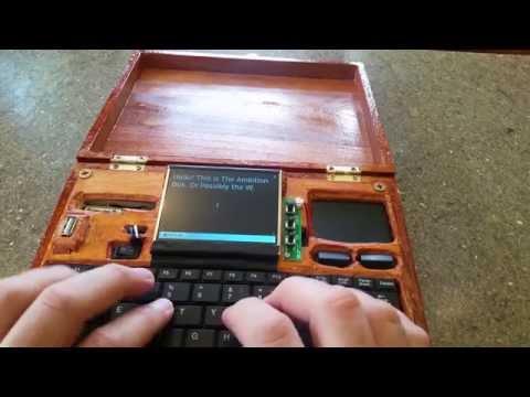 "Raspberry Pi powered word processor- ""The Ambition Box"" (AKA the Write-O-Tron)"
