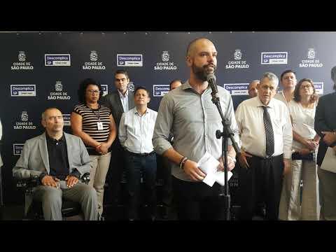 Bruno Covas PSDB prefeito faz agradecimentos inauguração Descomplica Campo Limpo