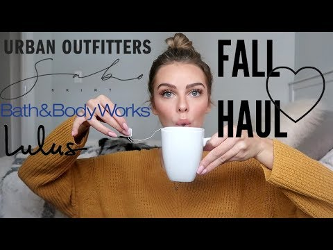 FALL HAUL 2017 | clothes, shoes, candles, fitness