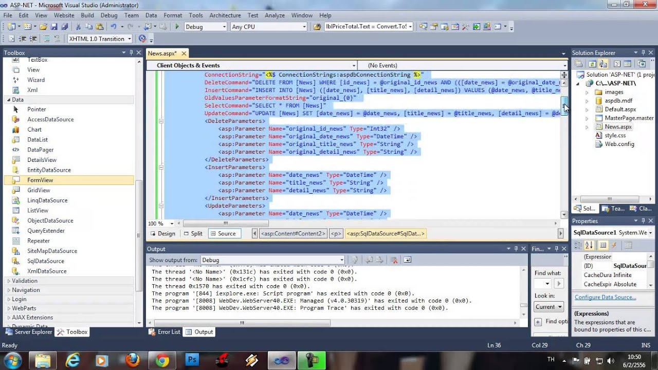 grid view templates in asp net - form view grid view asp net youtube