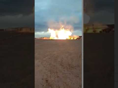 Incendio por fuga de gas en Vaca Muerta