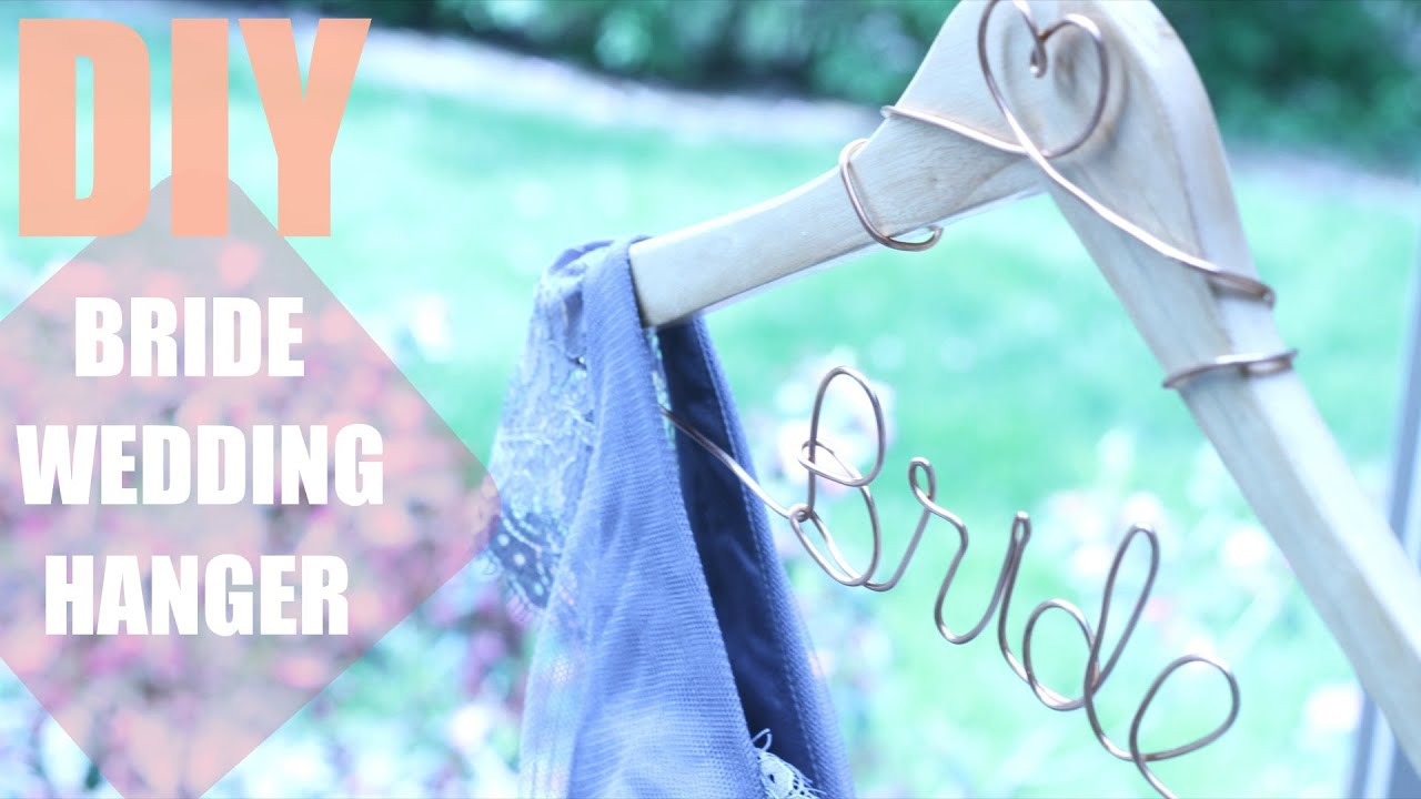 HOW TO MAKE A DIY PERSONALIZED WEDDING HANGER || KATIE BOOKSER - YouTube