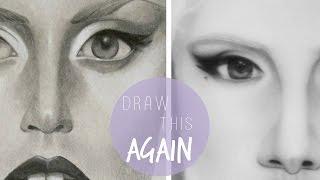 DRAW THIS AGAIN CHALLENGE: Lady Gaga
