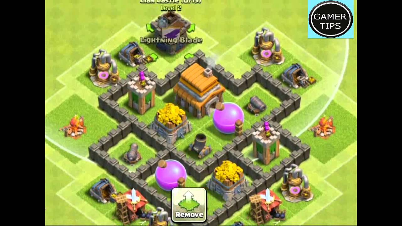 Clash of Clans Town Hall 4 Defense BEST Hybrid Base Layout