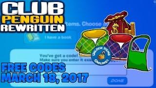 Club Penguin Rewritten - Free Codes 3/18/17