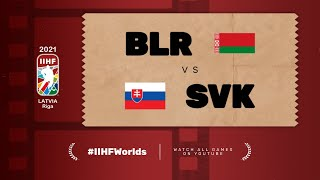 Belarus – Slovakia | Live | Group A | 2021 IIHF Ice Hockey World Championship
