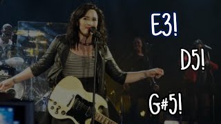 Demi Lovato | Supported Range At Her Best (E3-D5-G#5)