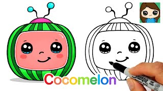 How to Draw the Cocomelon Logo Easy