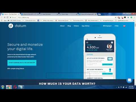 Datum Project Review: Using Smart Contract Blockchain To Store & Trade Our Private Data securely