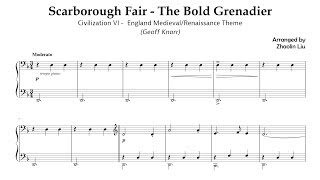 Scarborough Fair (piano) - Civilization VI England Medieval/Renaissance Theme - MuseScore