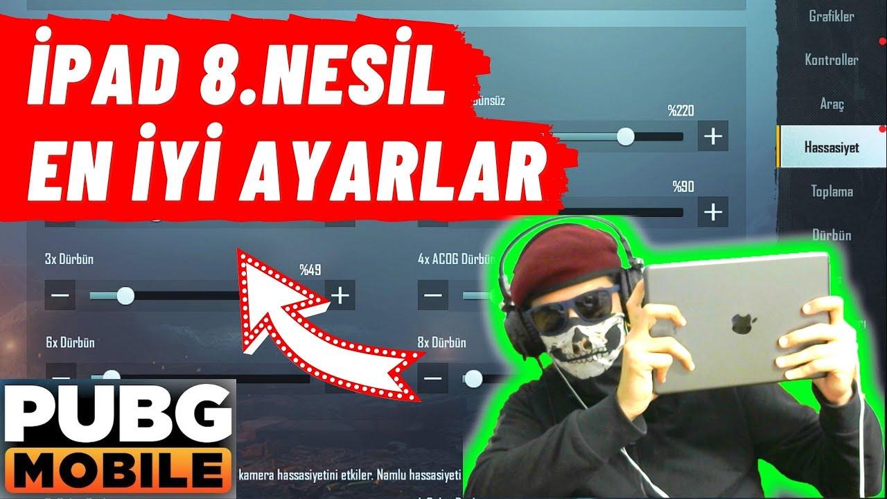 İPAD 8. NESİL PUBG MOBİLE EN İYİ HASSASİYET AYARLARI !!