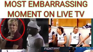 Most awkward moments on live tv | most embarrassing moment in sports|tennis |football.