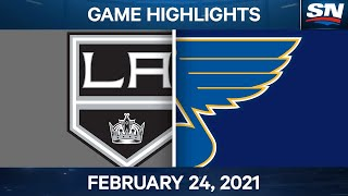 NHL Game Highlights | Kings vs. Blues - Feb. 24, 2021