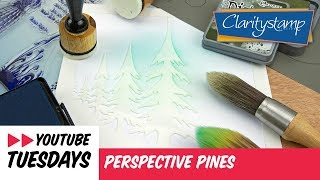 Stencilling How To - Perspective Pines