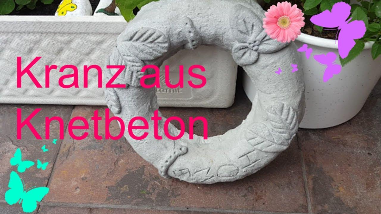 Diy Kranz Aus Beton Knetbeton Selber Machen Gartendeko