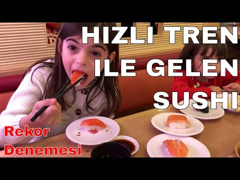 Hızlı Tren İle Sushi Gelen Restoranda Rekor Denemesi - Shinkansen Sushi