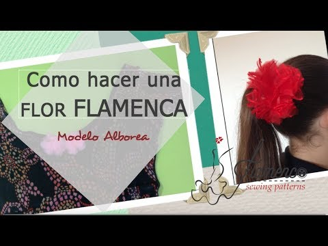Flamenco Fabric Flower Easy / Como hacer una flor flamenca F