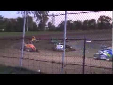 Jarrett Andretti flip at Montpelier Motor speedway