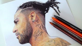 NEYMAR JR DRAWING | NEW HAIR STYLE 2018