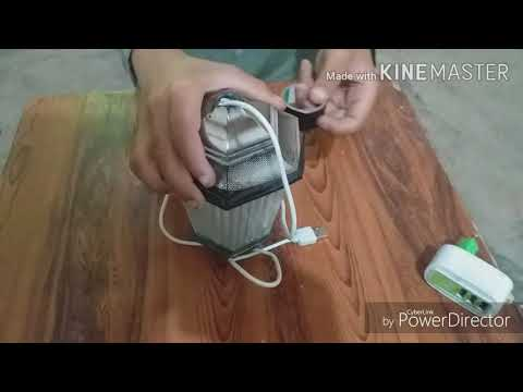 How to make night lamp easy way  charging cable at home