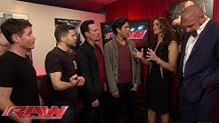 """The stars of """"Entourage"""" meet The Authority: Raw, May 25, 2015"""