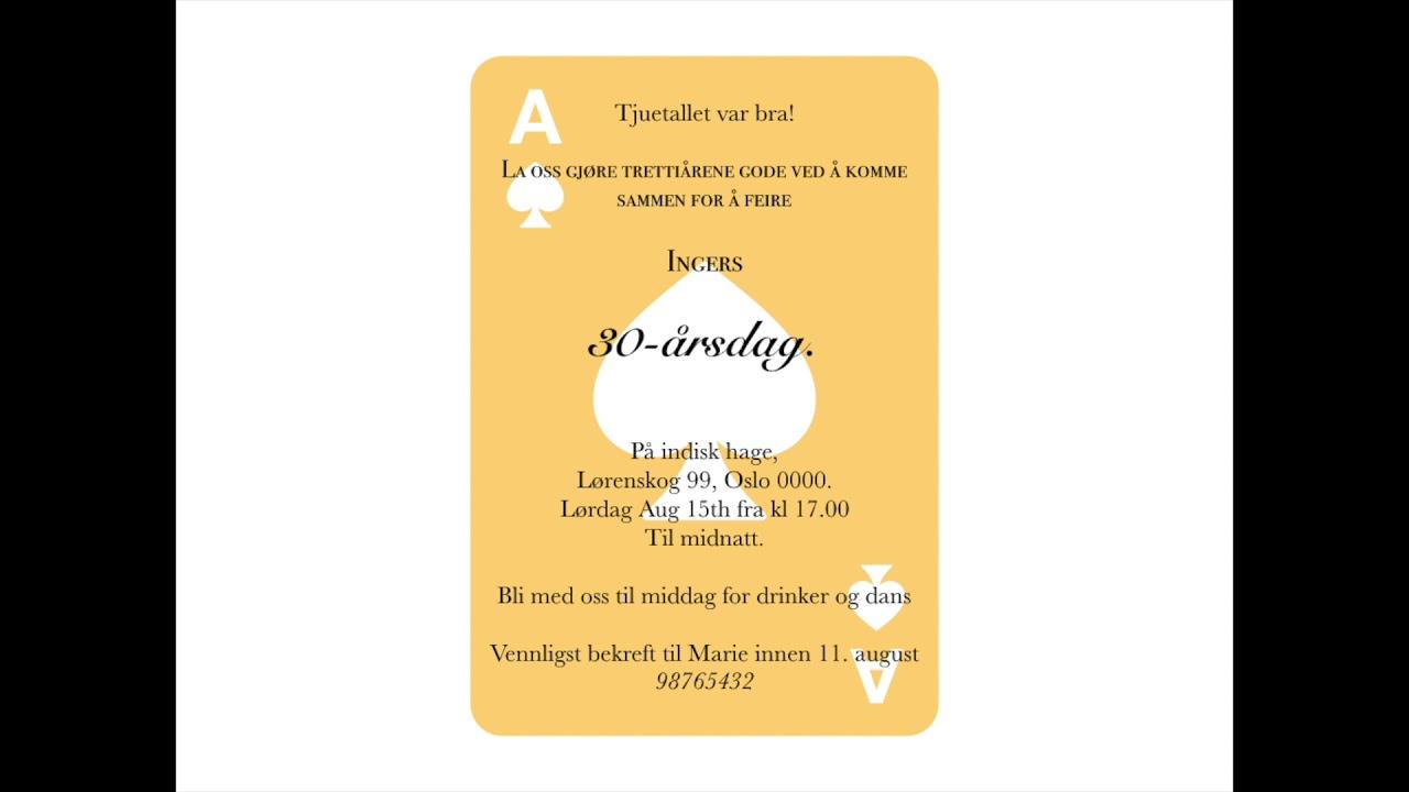 invitasjonskort barnebursdag