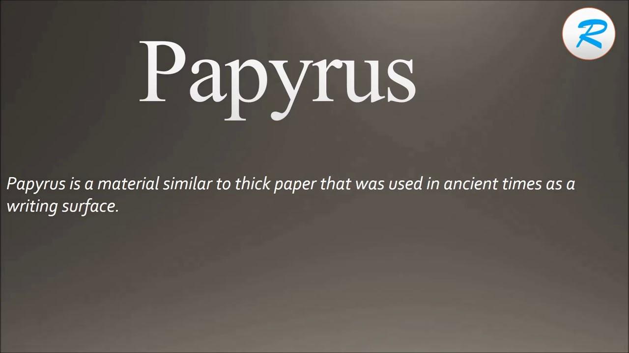 How to pronounce Papyrus ; Papyrus Pronunciation ; Papyrus ...