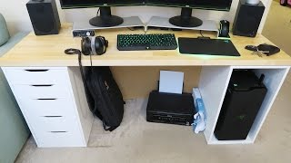 My NEW Home Office PC Workstation Desk (IKEA Karlby Worktop & Alex Drawer/Storage Units)