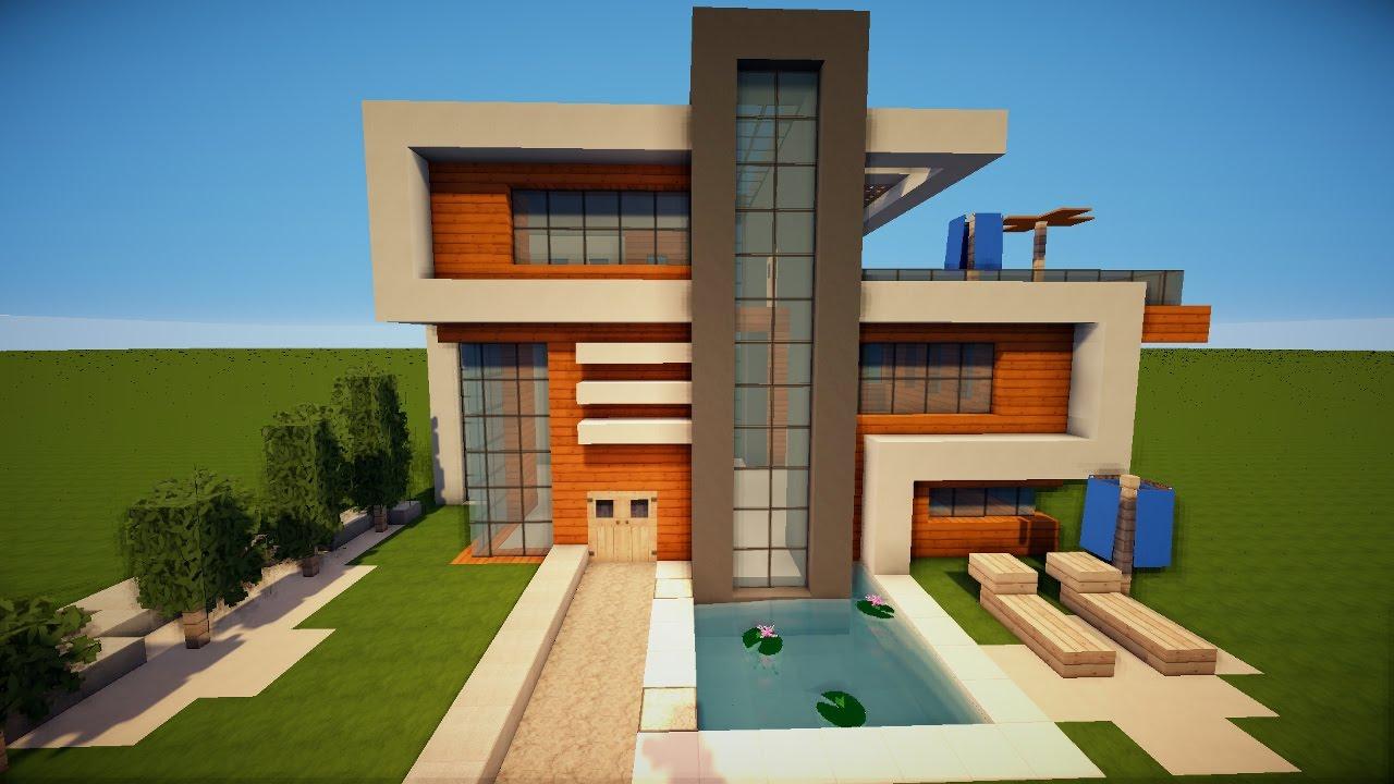 Großes Schönes Modernes Minecraft Haus Bauen Tutorial