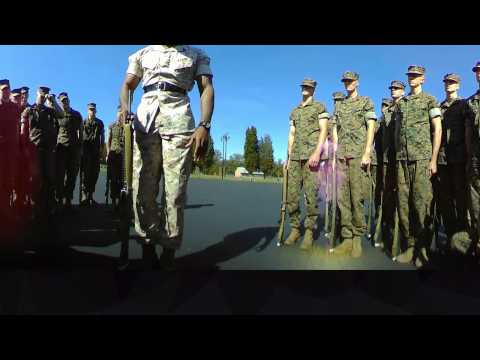 Present Arms Marine Drill Instructor 360 Video