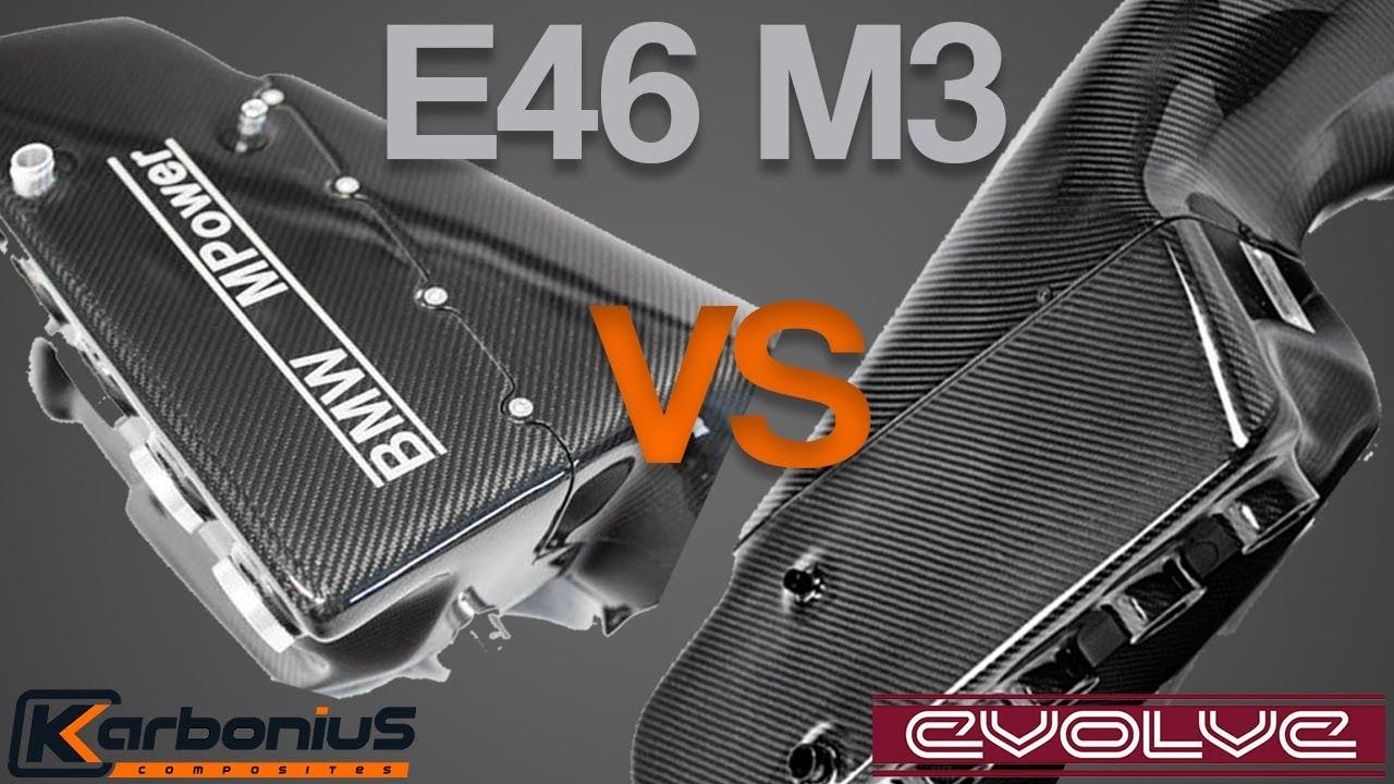 e46 m3 evolve csl airbox vs karbonius csl airbox youtube. Black Bedroom Furniture Sets. Home Design Ideas