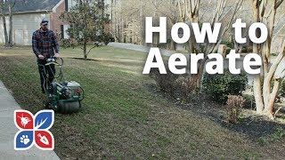 Do My Own Lawn Care - How to Aerate
