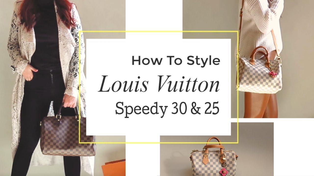 9626d2f683e8 Louis Vuitton Speedy 30 VS Speedy 25    How To Style Fall 2018 - YouTube