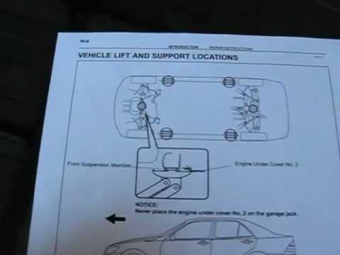 Lexus Jack Up Rear Jack Stand Placement By Froggy Youtube