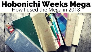 How I Used My Hobonichi Weeks Mega in 2018 - Very long and chatty video!