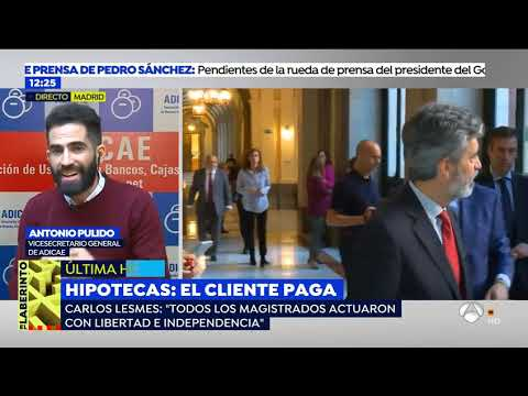 El Vicesecretario General de ADICAE, Antonio Publido, en Espejo Público el 7 de noviembre
