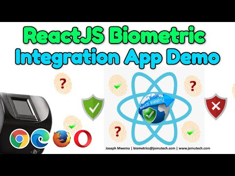ReactJS Biometric Authentication App Demo