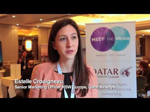 Estelle Crouigneau, Qatar Airways - Sponsor - Meet The Media, Dublin, Ireland, 2017