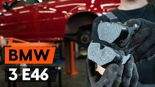 Montering Bromsbeläggsats fram och bak BMW 3 SERIES: videoinstruktioner